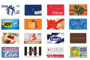 Một số thương hiệu nổi tiếng phát hành thẻ quà tặng