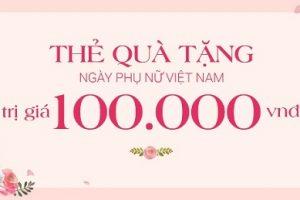 Thẻ quà tặng mua hàng cho ngày Phụ nữ Việt Nam