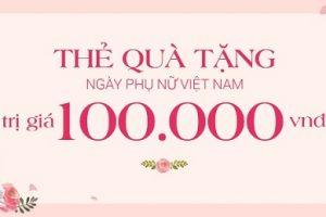 Thẻ quà tặng cho ngày Phụ nữ Việt Nam