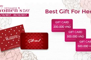 thẻ quà tặng khách hàng