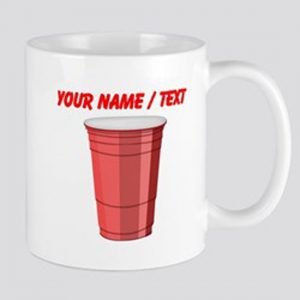 Custom Red Plastic Cup Mugs