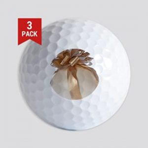 Easter egg with ribbon Golf Balls