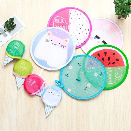 Frisbee Foldable fans